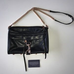 Blk & Rose Gold Rebecca Minkoff MAC Crossbody
